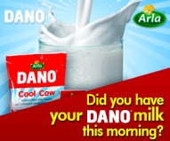 Do you have your Dano milthis morning?
