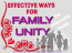 The Effective Ways For Family Unity: Informative Guide For Every Family